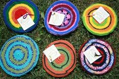 Pocket Flying Disc or Crochet Frisbee - CROCHET