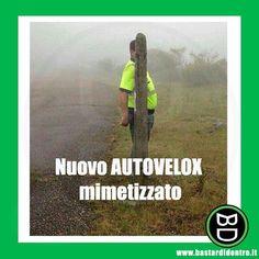 Attenzione al nuovo modello di #autovelox mimetizzato! #bastardidentro #palo www.bastardidentro.it