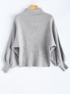 GET $50 NOW | Join Zaful: Get YOUR $50 NOW!http://m.zaful.com/puff-sleeve-mock-neck-sweater-p_222198.html?seid=1546345zf222198