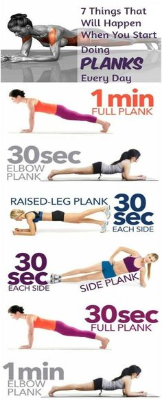7 Things That Will Happen When You Start Doing Planks Every Day diet workout lifestyle