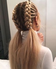 Pretty Hairstyles, Girl Hairstyles, Hairstyle Ideas, Braided Hairstyles For School, Easy Summer Hairstyles, French Braid Hairstyles, Braided Hairstyles For Long Hair, French Braid Pigtails, Hairstyle Braid