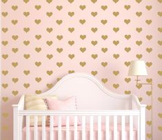 2015 Nursery Trend: Hearts! Hearts are aplenty this year. Big or little, pink, black or red, these cute graphics will find their way onto crib bedding, blankets, pillows and walls.
