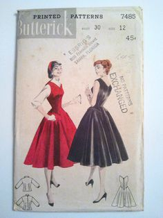 Butterick 7485: love the piecing at the kips