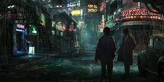 Night Street, Rhys Griffiths on ArtStation at https://www.artstation.com/artwork/night-street-36e93349-c5db-4da2-a16a-2f7b9fa81ed5