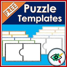 Free puzzle templates clip art by Planerium Teacher Games, Teacher Resources, Teacher Stuff, Special Education Classroom, Classroom Themes, Classroom Clipart, Teaching Kindergarten, Student Teaching, Preschool Literacy