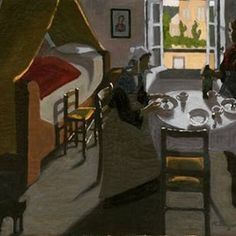 The bretonese meal by marius borgeaud #french #artist #pontavenschool #early20century