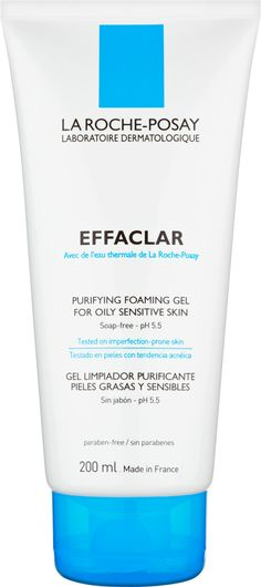 Gently cleanse your imperfection-prone skin with the La Roche-Posay Effaclar Foaming Gel. The purifying formulation lifts dirt, grime and sebum away from the surface of the skin without disrupting its delicate balance. The skin is left feeling clean and fresh, and is soothed with restorative La Roche-Posay thermal spring water. Work the thick gel into a lather and it will produce a light non-irritating foam that is easy to rinse away. Apply every morning and evening by massaging in gently.