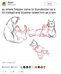 Bluestar is so cute, taking care of Firepaw. Then later, Fireheart, after her late mate, Oakheart. Warrior Cats Funny, Warrior Cat Memes, Warrior Cats Series, Warrior Cats Books, Warrior Cats Art, Warriors Memes, Love Warriors, Cat Boarding, Cat Drawing