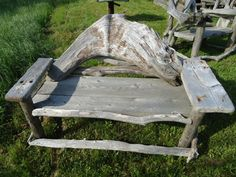 Items similar to Driftwood Bench on Etsy