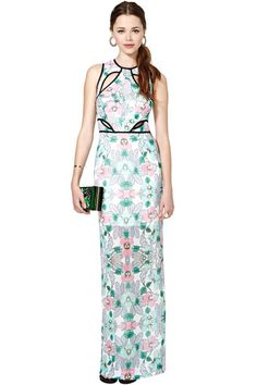 Alice McCall Come to Bermuda Dress.  kaleidoscopic pattern, cut-out maxidress. YES PLEASE