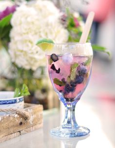 "Blueberry Mojito: If you're looking for your ""something blue"" it may just be at the bar…"