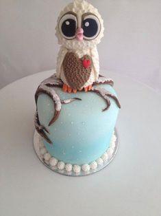 My Owl Barn: Christmas Owl Cake