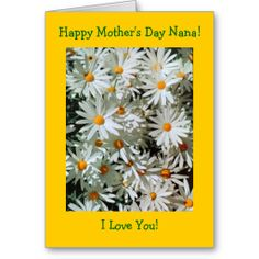 Create your own unique greeting on a White card from Zazzle. From birthday, thank you, or funny cards, discover endless possibilities for the perfect card! Mother's Day Greeting Cards, Happy Mothers Day, Daisies, Photo Cards, How To Dry Basil, Christmas Cards, Finding Yourself, Floral, Gifts