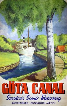 Original vintage poster: Gota Kanal for sale at posterteam.com by Roos