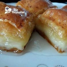Turkish Recipes, Ethnic Recipes, Turkish Sweets, Deserts, Dessert Recipes, Food And Drink, Yummy Food, Yummy Yummy, Cheese
