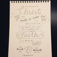 Galatians 2:20 #illustratedfaith #handlettering #christ #faith #sketchbook #memoryverse