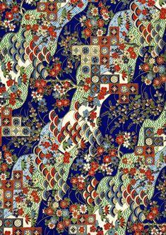Japanese Yuzen Chiyogami Washi Paper Traditional by CraftyPaperOz Japanese Drawings, Japanese Paper, Japanese Fabric, Japanese Kimono, Japanese Textiles, Japanese Patterns, Japanese Prints, Miyazaki, Washi