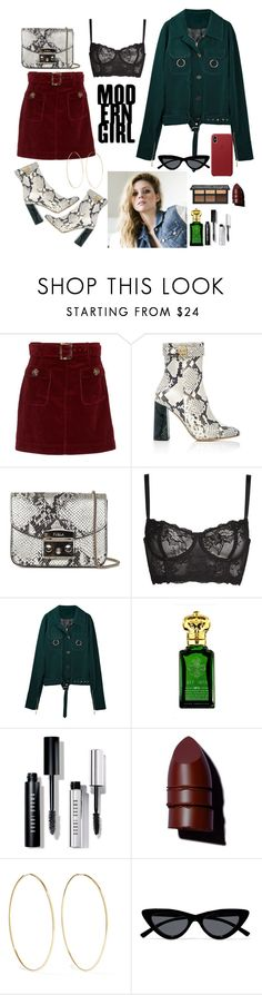 """(retelling - lia 01)"" by islahb ❤ liked on Polyvore featuring AlexaChung, Rochas, Furla, Naja, Clive Christian, Bobbi Brown Cosmetics, Anastasia Beverly Hills, Magda Butrym and Le Specs"