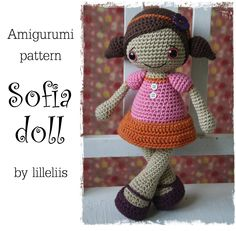 PATTERN - Sofia, amigurumi doll, crochet toy. $6.50, via Etsy.