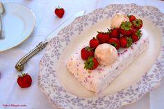 Ponto de Rebuçado Receitas: Dia Um... Na Cozinha! e um Gelado Eton Mess de morangos e framboesas