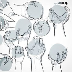 This week I study the hands ✌✊✍ #drawing #dessin #digitalpainting #autodesksketchbook #art #illustration #study
