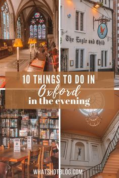There's plenty to be discovered in Oxford at night too! Here are the top 10 things to do in Oxford in the evening including Evensong, comedy nights, board games and more! Oxford Pubs, Oxford City, Oxford London, Amazing Destinations, Travel Destinations, Places To Travel, Places To Go, Oxford England, London England