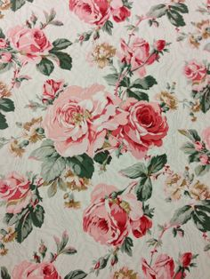 Chintz chosen by Cecil Beaton for his country house, reproduced by Beaudesert (via little augury).