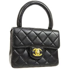 29abbae664115a Chanel Black Leather Mini Kelly Small Party Evening Top Handle Satchel Flap  Bag