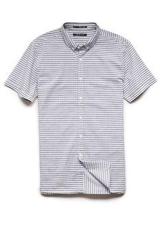Striped Pocketless Shirt   21 MEN #21Men