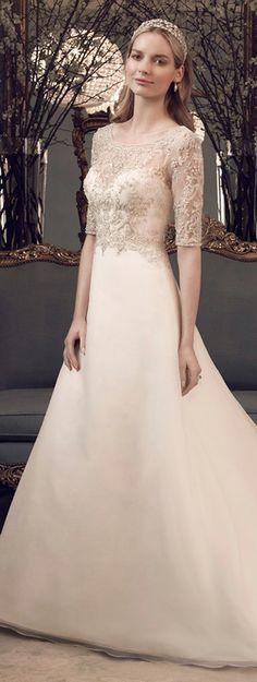 Fit for a queen ~ Casablanca Bridal Fall 2014   bellethemagazine.com