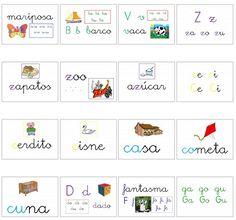 Fichas para trabajar sílabas y consonantes - Escuela en la nube