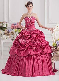 Elegant Fuchsia Taffeta Pleated Sweetheart Womens Ball Gown. See More SweetHeart at http://www.ourgreatshop.com/SweetHeart-C951.aspx