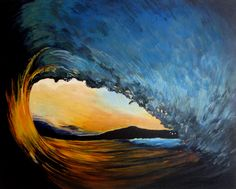 Sunset Wave painting by Karlin Meehan