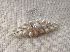 Bridesmaid freshwater pearl hair comb