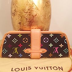 """additional photos : LV Multicolor Shirley 100% authentic. This LV shoulder bag is in excellent condition other than *minor* scratches on the LV buckle. Worn once. Dimensions: L """"9 1/2 Height 4 1/2. Strap can be removed by preference and worn as a beautiful clutch. A true classic - SOLD OUT for LV.  Please refer to the other listing for more photos. Louis Vuitton Bags Shoulder Bags"""