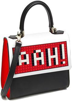 "Les Petits Joueurs Mini Alexa ""Aah"" Shoulder Bag, Black ($950)"