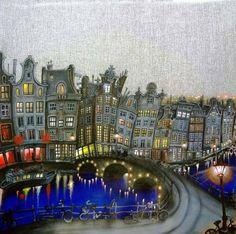 Daniel Worth「Amsterdam at night」