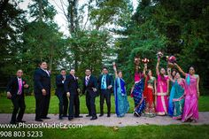 Bridal Party photo in Hindu-Christian Wedding by PhotosMadeEz in Spring Mill Manor, PA
