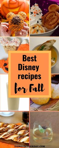 The best fall Disney recipes from the parks - Disney in your Day. Love the flavors of fall? If you're after pumpkin, apple, butternut squash, and more great fall recipes with a little Disney magic you'll find some of the best here! Disney Recipes, Disney Tips, Disney Food, Disney Magic, Halloween Desserts, Scary Halloween, Halloween Pumpkins, Disney World Planning, Disney World Vacation