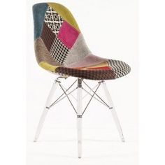 SO CUTE and sure I can figure out how to make it. Another great find on Patchwork & Clear Leg Mid-Century Eiffel Dining Chair Modern Contemporary Homes, Mid Century Dining, Butterfly Chair, Oversized Chair, Colorful Furniture, Mid Century Furniture, Dream Decor, Home Furniture, Accent Furniture
