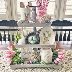Tiered Tray Styling Ideas Youll Love # easter # decoration – diy kitchen decor on a budget Easter Crafts, Holiday Crafts, Easter Decor, Easter Ideas, Tray Styling, Diy Ostern, Spring Home Decor, Spring Decorations, Decorating For Spring