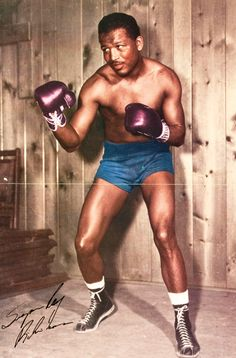 Sugar Ray Robinson pin up poster. At the time they said the best pound for pound fighter in the world. Personally I don't think he'd last 5 rounds with the guys posted alongside.