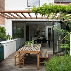 Garden decking area | Light-filled Victorian house tour | House tour | Modern decorating ideas | PHOTO GALLERY | Livingetc | Housetohome