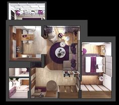 Marvelous 3 One Bedroom Apartments Under 750 Square Feet (70 Square Metres) [Includes  Layouts]