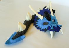 Bimini the Blue Dragon Mask and Tail for Pretend by HuntingFaeries