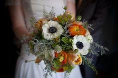ranunclus and anemone bridal bouquet | Anemone, tulip and ranunculus bouquet | Wedding Ideas