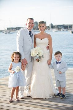 Preppy nautical wedding flower girl and ring bearer idea {Polina Kelly Photography}