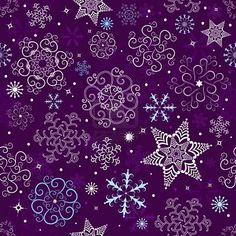 It's going to be a winter white Christmas...with wonderful touches of pretty purple.