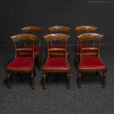 Set Of Six William IV Mahogany Chairs - Antiques Atlas