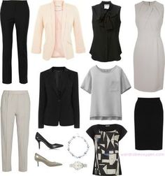 Capsule Wardrobe - Professional Wear to Work A professional capsule wardrobe to wear to work that is free of stiff fabrics and starched cotton. Yes, you can look professional and be comfortable! Corporate Wear, Corporate Fashion, Corporate Style, Capsule Wardrobe Mom, Work Wardrobe, Wardrobe Basics, Wardrobe Ideas, Build Wardrobe, Mode Outfits